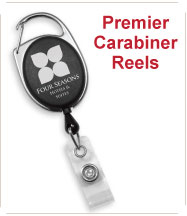 Custom Permier Caribiner Badge Reels