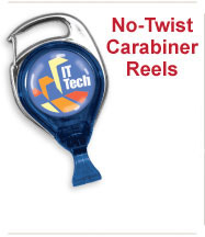 Custom No-Twist Caribiner Badge Reels