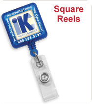 Custom Square Badge Reels